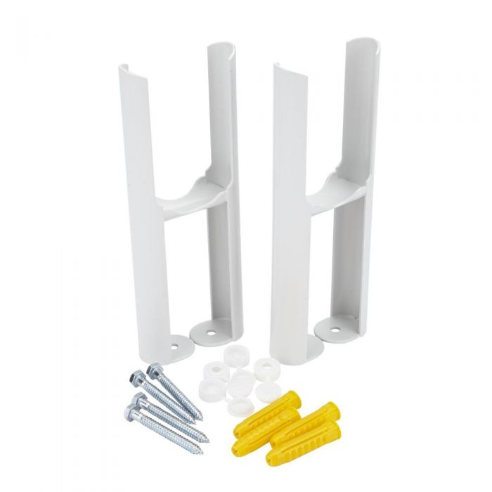 Pieds de radiateur - Blanc - Pour radiateurs rétro à double rangs de colonnes – Windsor