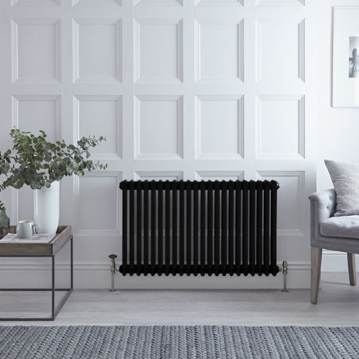 Radiateur horizontal rétro - Noir – 60 cm x 101,1 cm – Triple rangs - Windsor
