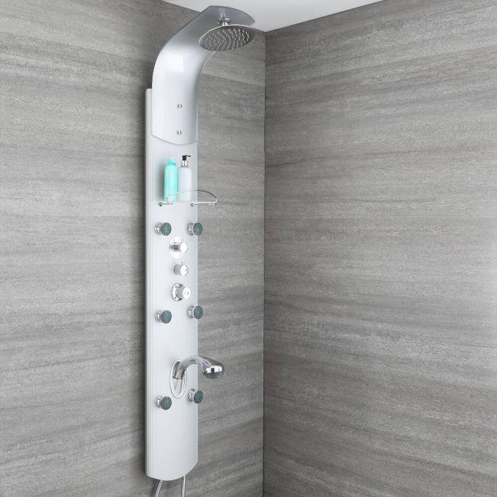 Colonne de douche thermostatique exposée – 3 fonctions – Douchette extractible – Chromé - Arcan
