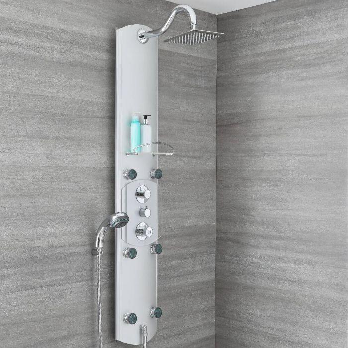Colonne de douche thermostatique exposée – 3 fonctions – Chromé - Arcan
