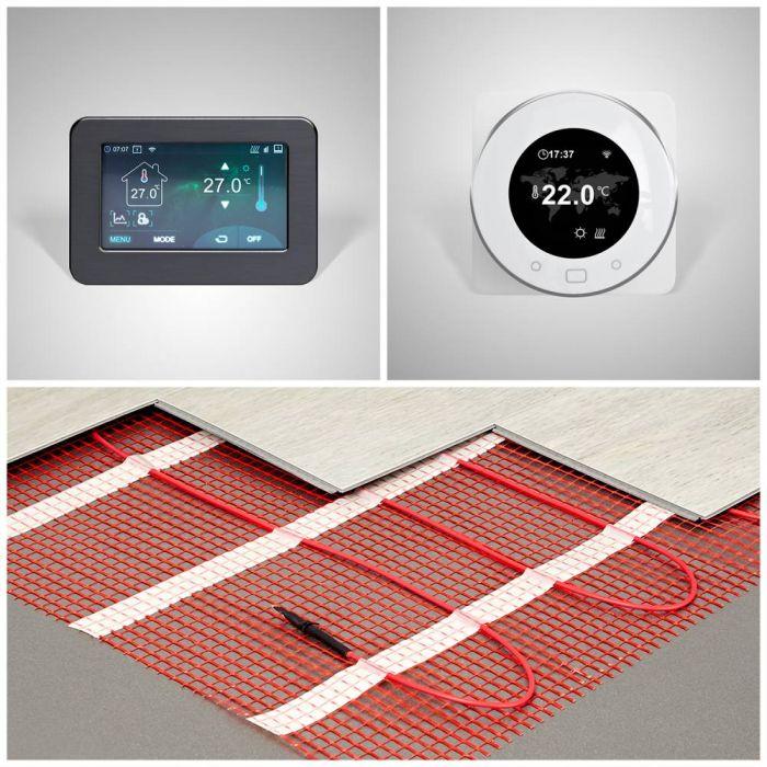 Kit chauffage au sol électrique – Choix de taille et de thermostat