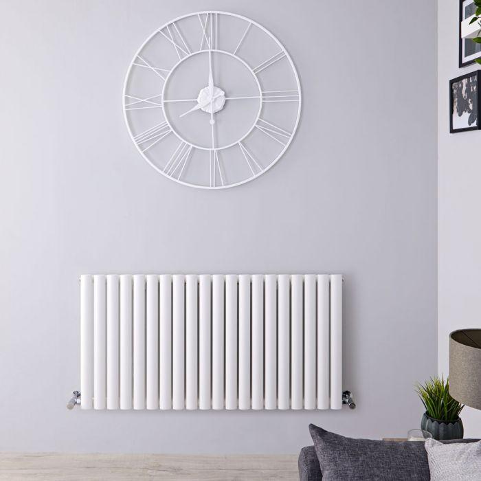 Radiateur Horizontal Vitality Blanc 60cm x 118cm x 5.6cm 1115 watts