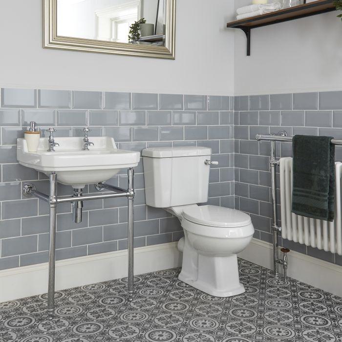 Pack WC rétro et lavabo sur pieds - Richmond