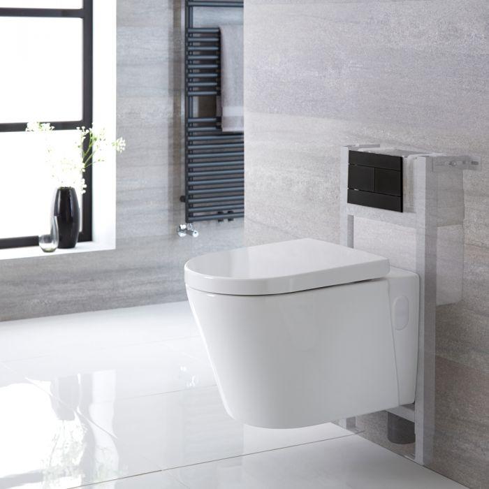 Pack WC suspendu - Bâti-support - Blanc - Plaque de déclenchement au choix - Covelly