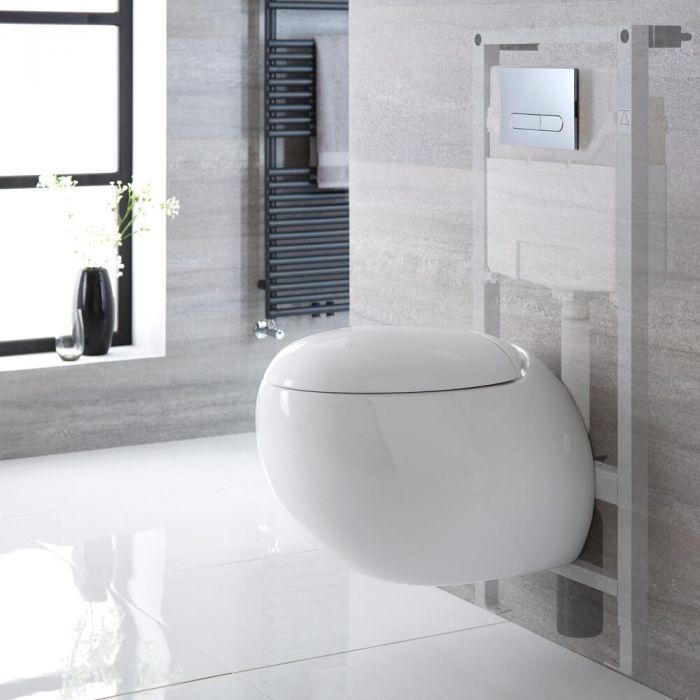Pack WC suspendu moderne - Bâti-support haut – Choix de plaque de déclenchement - Langtree