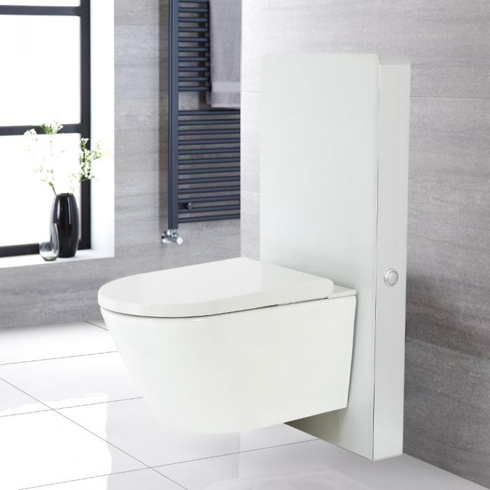 WC japonais Hirayu avec meuble - 50 cm - Blanc - Saru