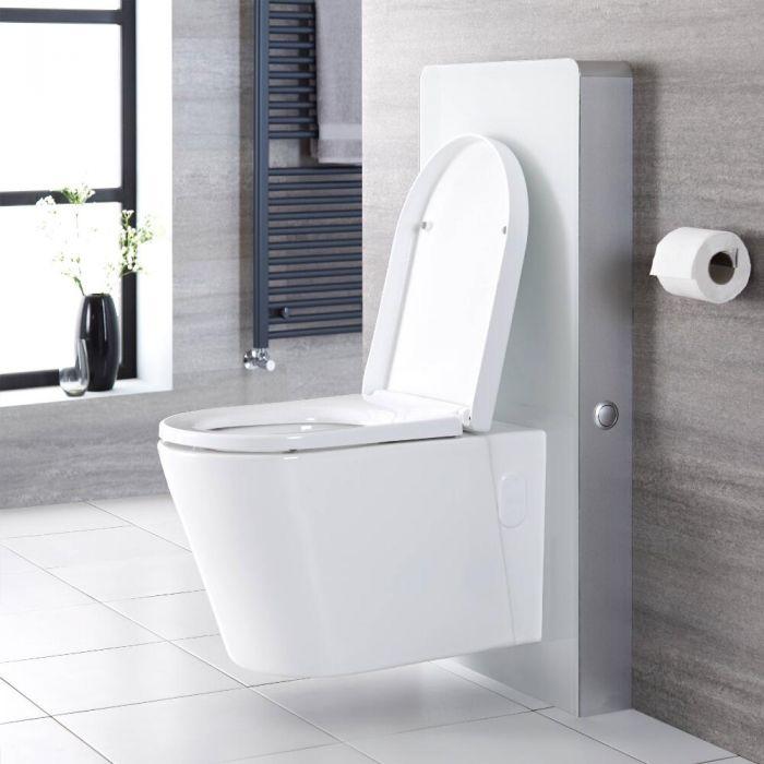 Meuble WC blanc 50 cm (sans cuvette) - Saru