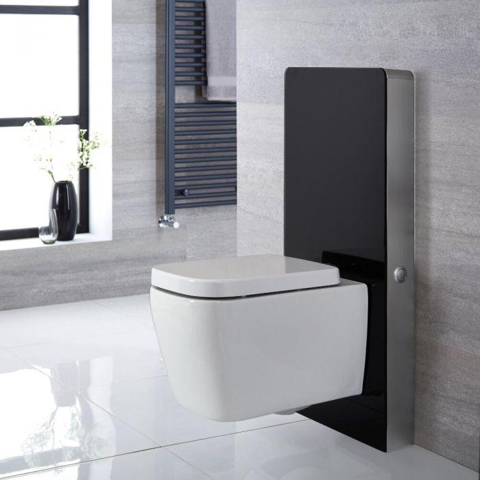 Meuble WC noir 50 cm (sans cuvette) - Saru