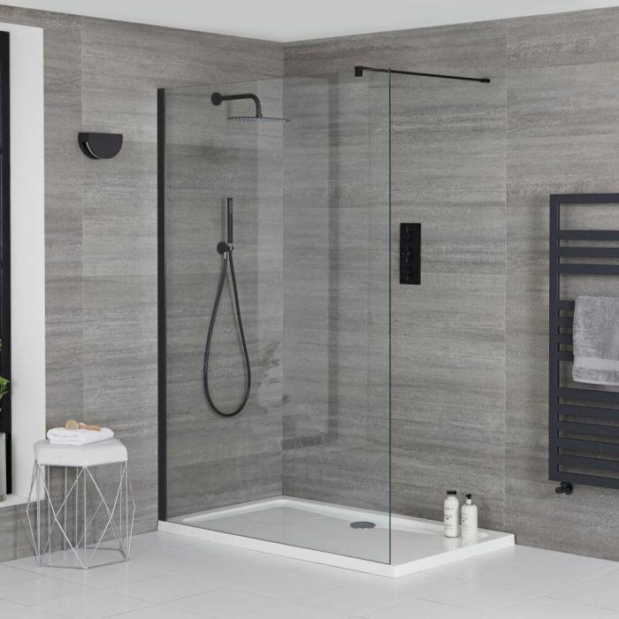 Douche italienne d'angle avec receveur de douche – Choix de tailles – Nox