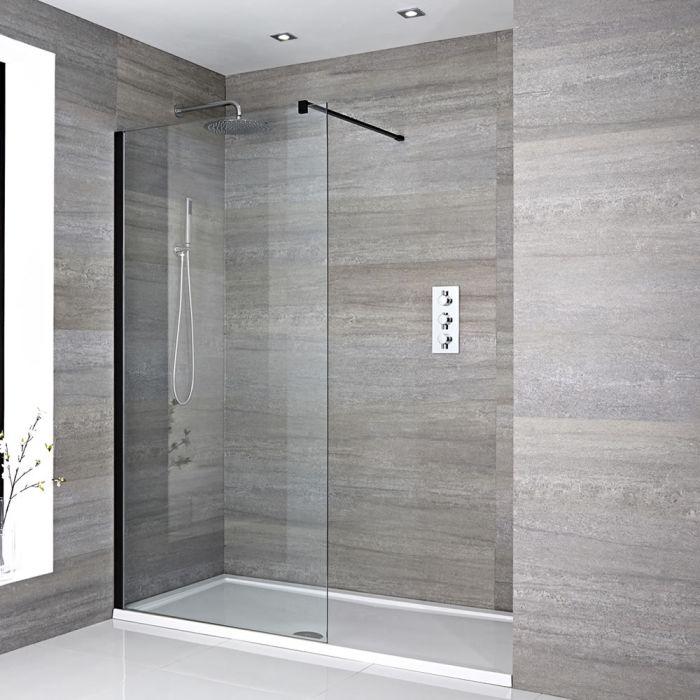 Douche italienne avec receveur de douche – Multiples tailles disponibles - Nox