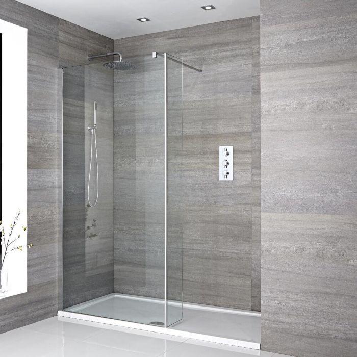 Douche italienne avec receveur de douche et paroi de retour pivotante – Choix de tailles – Portland