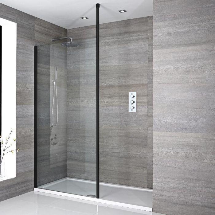 Douche italienne moderne avec receveur de douche – Choix de tailles - Nox