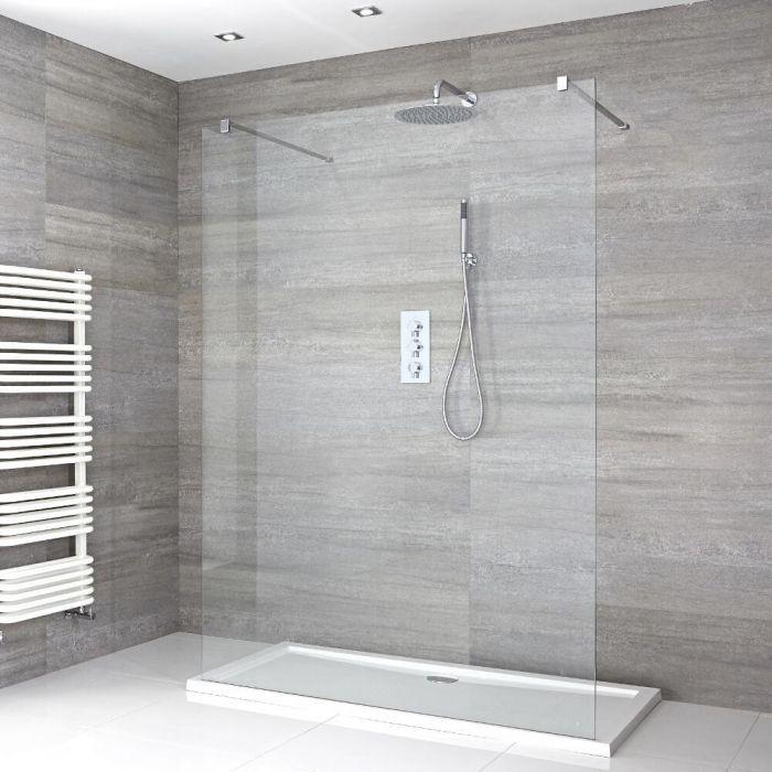 Douche italienne avec receveur de douche à profil bas – multiples tailles disponibles – Portland