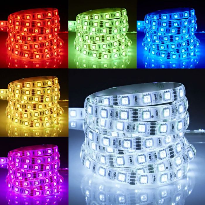 Biard Ruban LED 5050 RGB Ultra Brillant Étanche IP65 5m