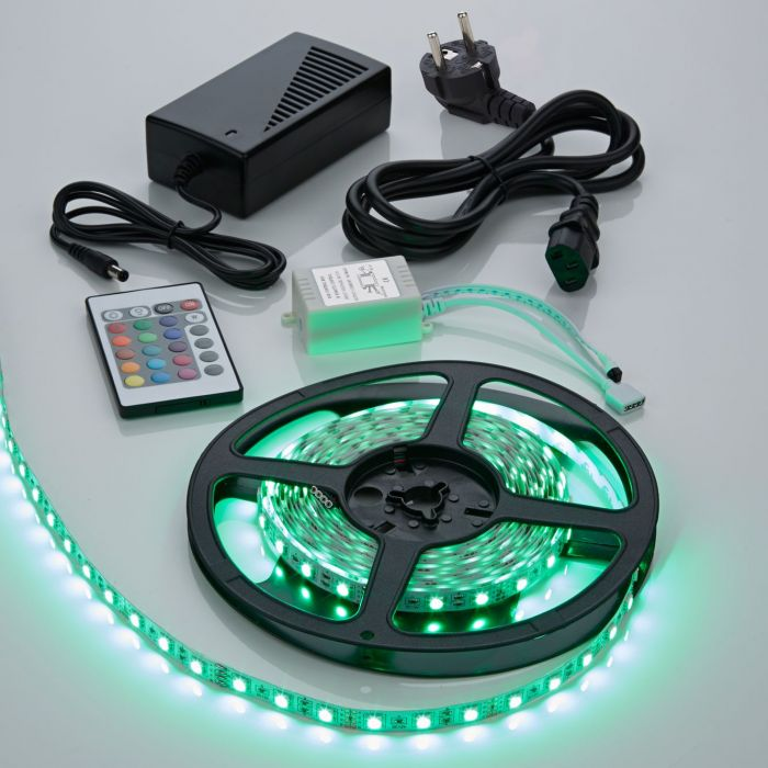 Biard Kit Ruban LED 5050 Blanc & RGB Brillant 5m
