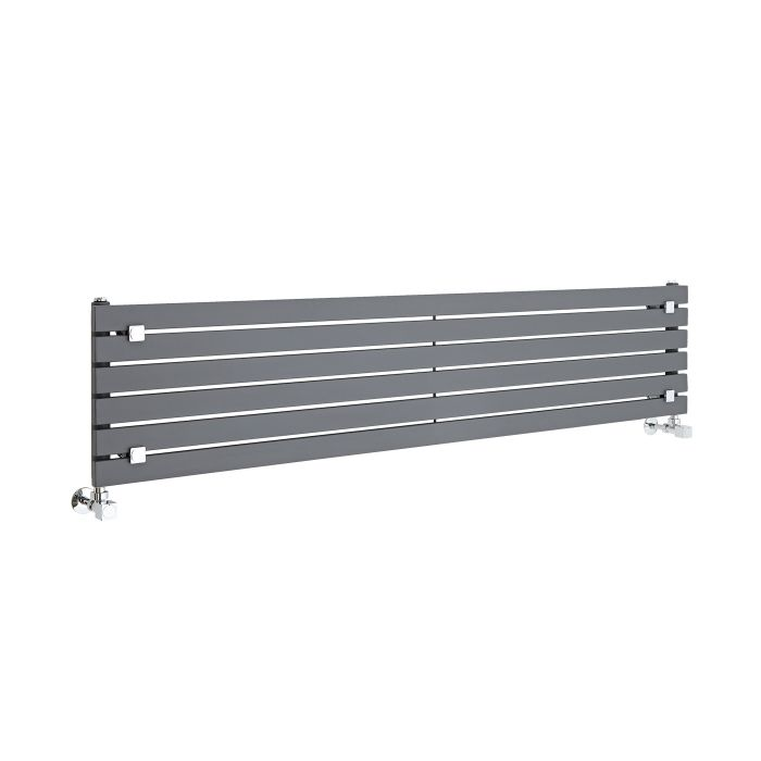 Radiateur Design Horizontal Anthracite Sloane 35,4cm x 160cm x 5,4cm 773 Watts