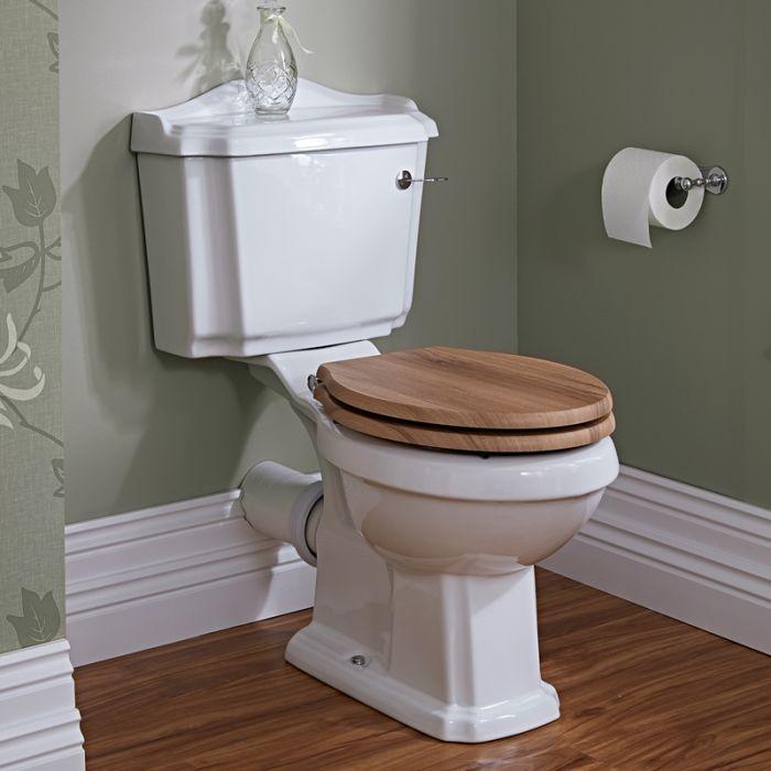 WC avec réservoir intégré et abattant noyer  - Legend