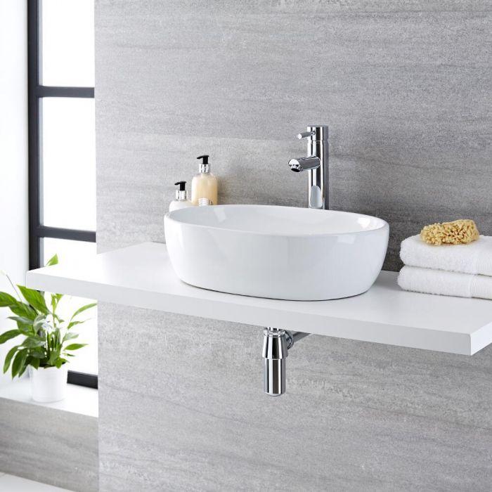 Vasque  à poser ovale 48 x 35cm Otterton & Mitigeur haut