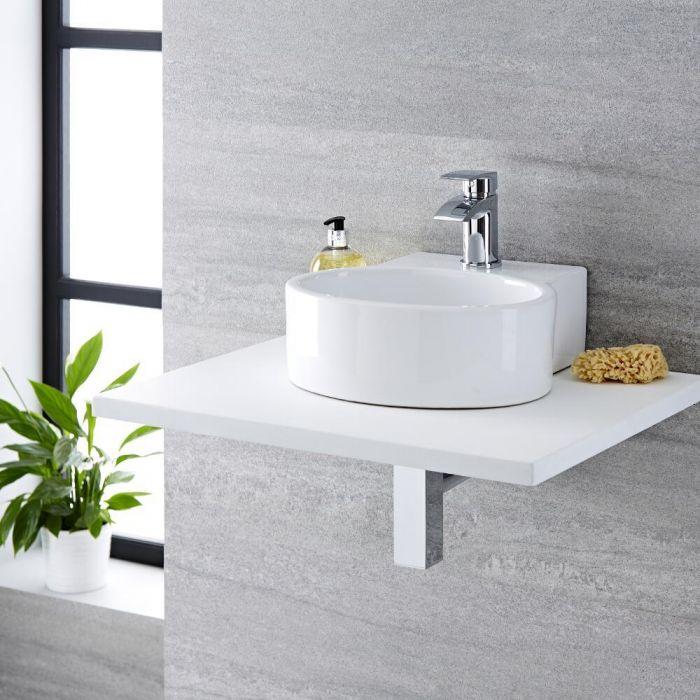 Vasque à poser 34 x 33cm Covelly & Mitigeur Razor