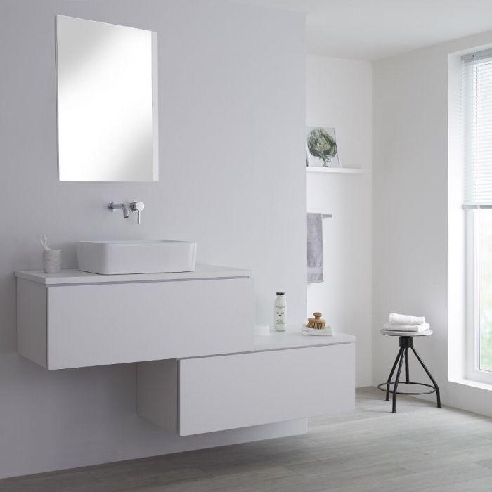 Meuble pour vasque à poser Blanc Newington - 160cm