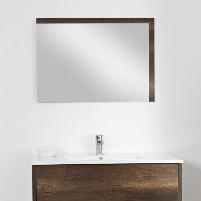 Miroir salle de bain Hoxton Chêne foncé 75x100cm