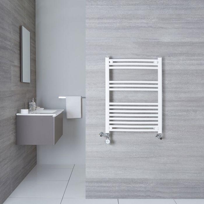 Sèche-Serviettes Mixte Incurvé Blanc Etna 80cm x 60cm x 5cm 482 Watts
