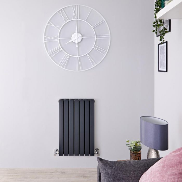 Radiateur Design Horizontal Anthracite Sloane 63,5cm x 42cm x 7,1cm 653 Watts