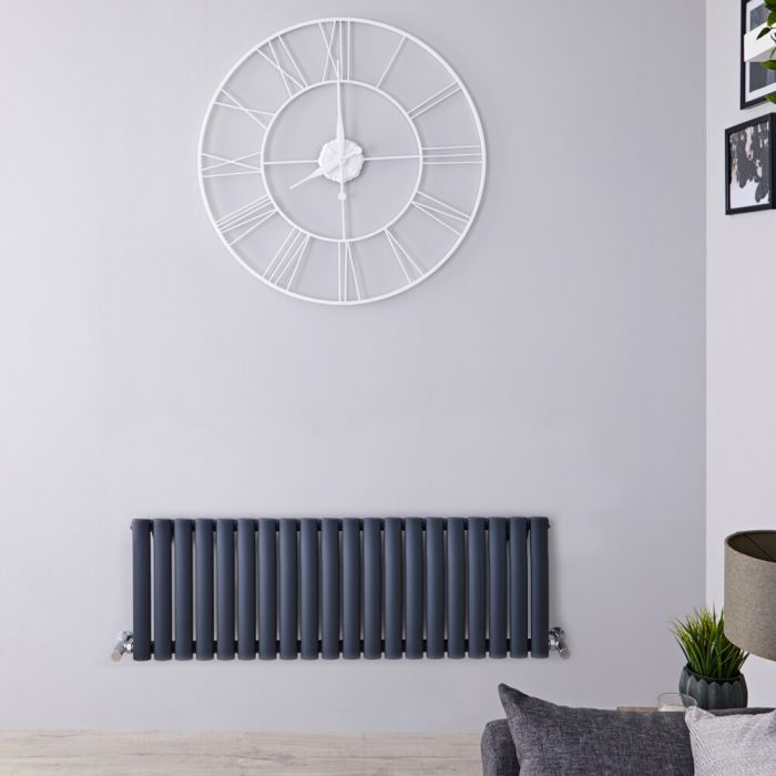 Radiateur horizontal anthracite Vitality 40 x 118cm 813 watts