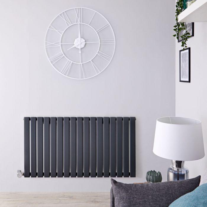 Radiateur Design Électrique Horizontal Anthracite Delta 63,5cm x 119cm x 4,6cm