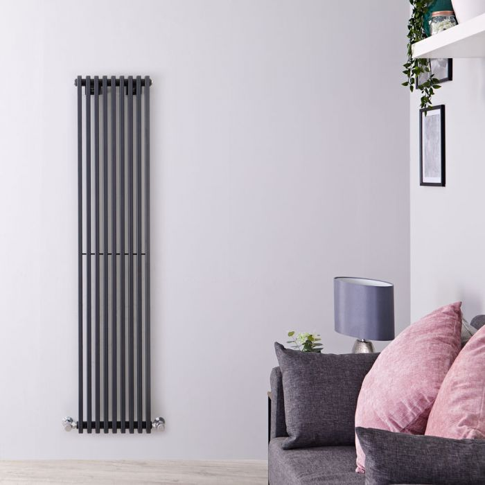Radiateur Design Vertical Anthracite Parallel 160cm x 34,2cm x 8,4cm 1053 Watts