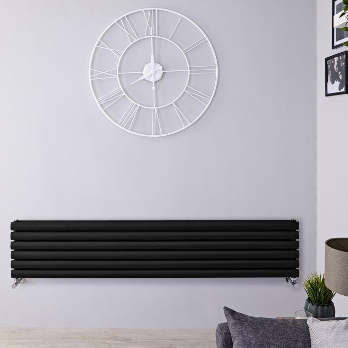 Radiateur Design Horizontal Noir Vitality 35,4cm x 160cm x 7,8cm 1101 Watts