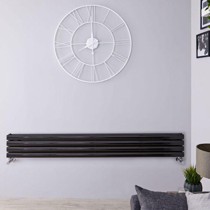Radiateur Design Horizontal Noir Vitality 23,6cm x 160cm x 7,8cm 815 Watts