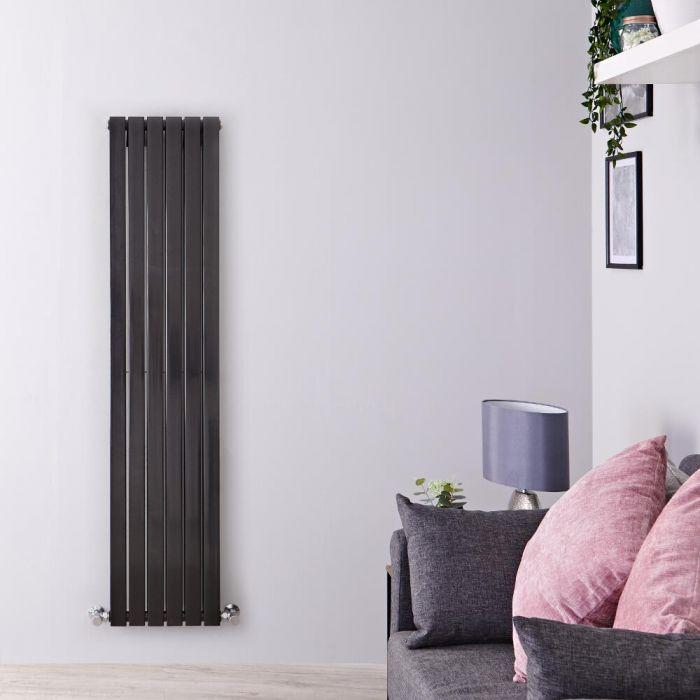 Radiateur Design Vertical Noir Sloane 160cm x 35,4cm x 7,2cm 1193 Watts