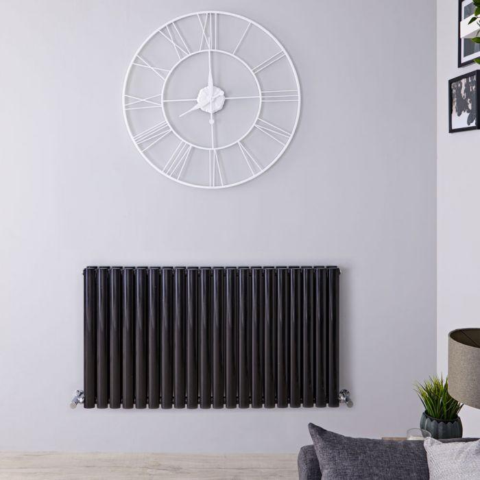Radiateur Design Horizontal Noir Vitality 63,5cm x 118cm x 7,8cm 1863 Watts