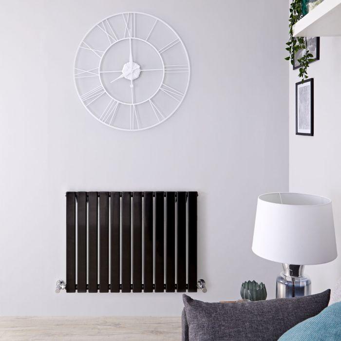 Radiateur Design Horizontal Noir Delta 63,5cm x 84cm x 4,6cm 751 Watts