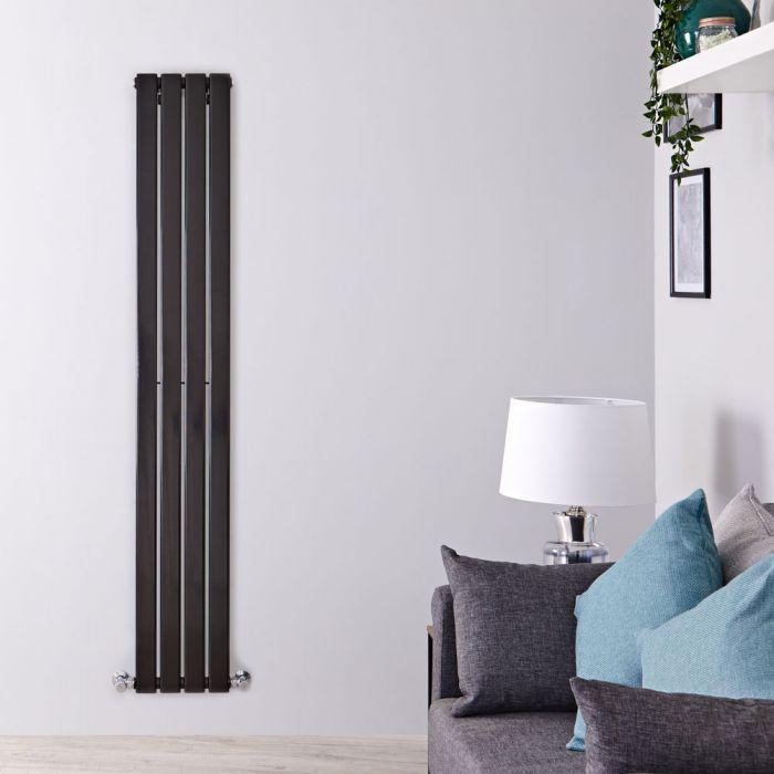 Radiateur Design Vertical Noir Delta 160cm x 28cm x 4,7cm 586 Watts