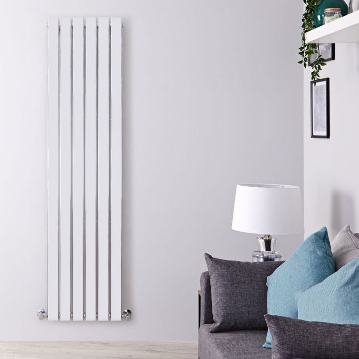 Radiateur Design Vertical Chromé Delta 160cm x 45cm x 5cm 590 Watts