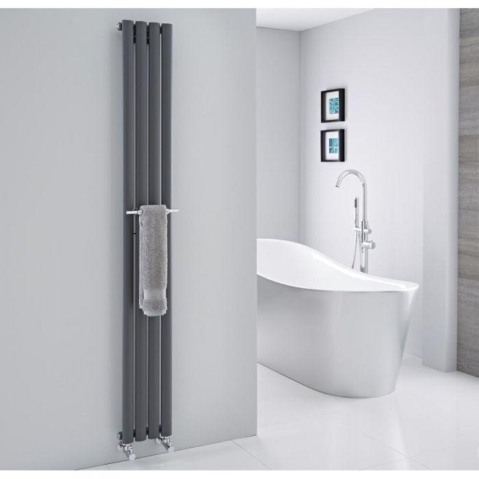 Barre porte-serviettes chromée 23cm pour Radiateur Vitality & Delta