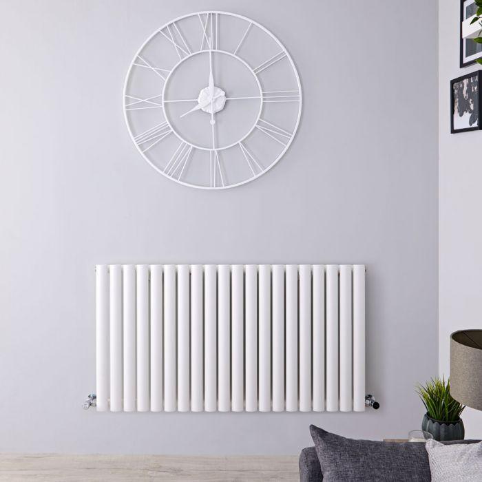 Radiateur Design Horizontal Blanc Vitality 63,5cm x 118cm x 5,6cm 1194 Watts