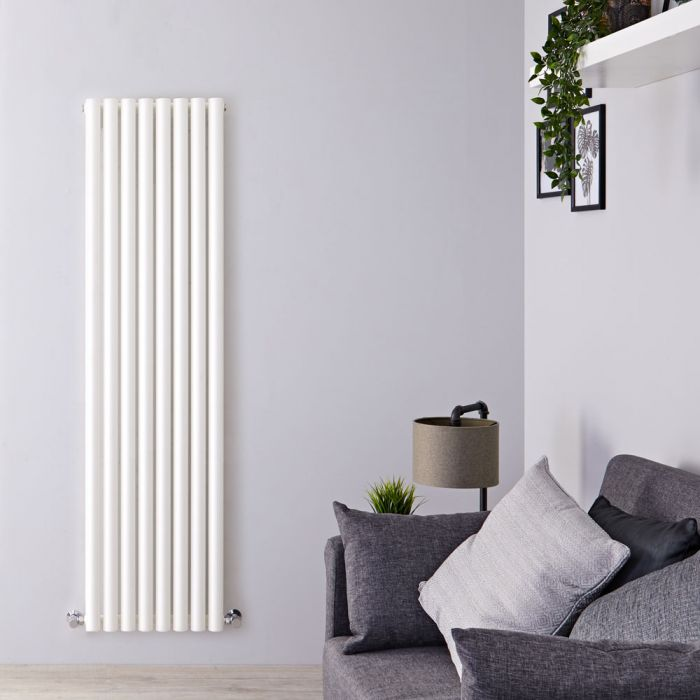Radiateur Design Vertical Blanc Savy 160cm x 47,2cm x 8cm 1278 Watts