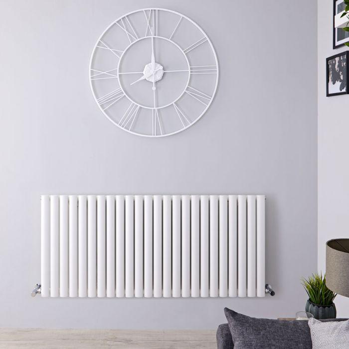 Radiateur Design Horizontal Blanc Vitality 63,5cm x 141,1cm x 5,6cm 1433 Watts