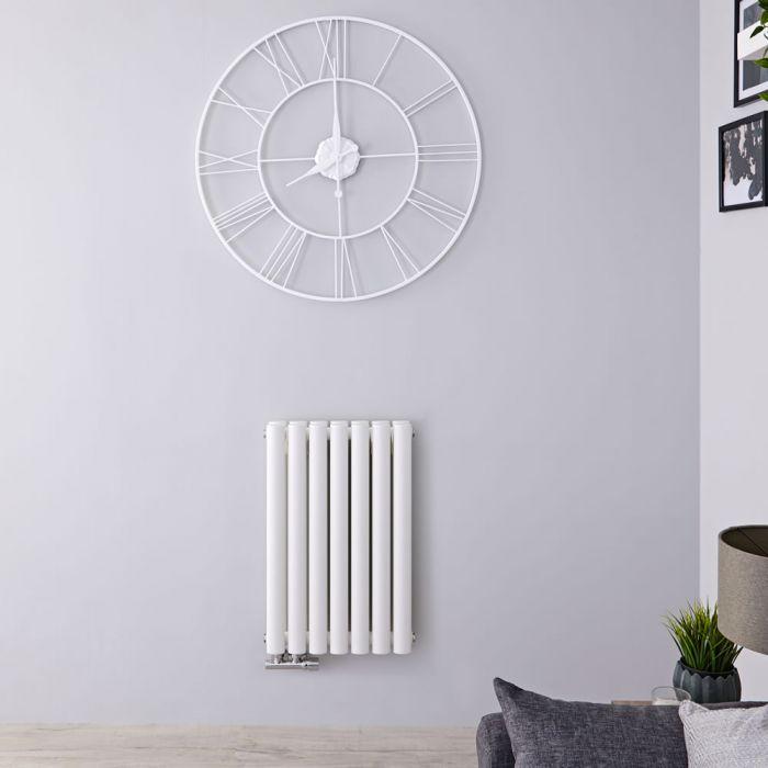 Radiateur Design Horizontal Raccordement Central Blanc Vitality Caldae 63,5cm x 41,5cm x 7,8cm 729 Watts