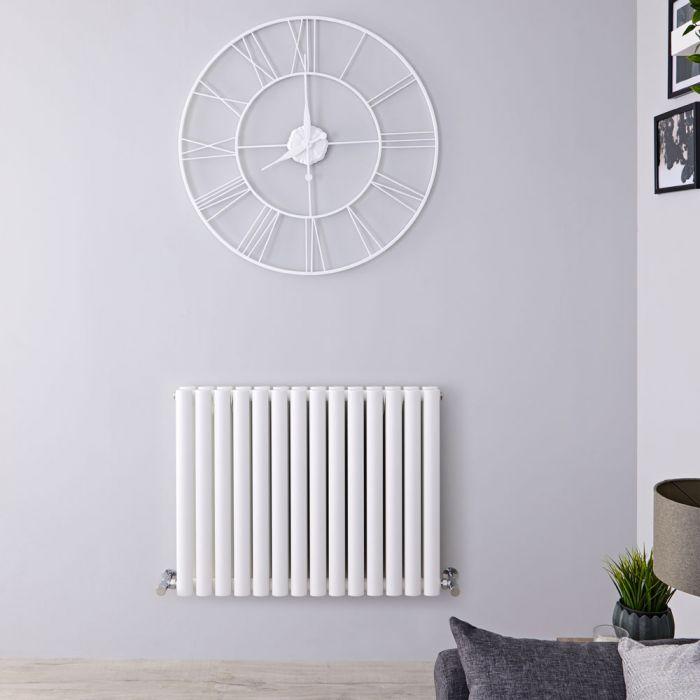 Radiateur Design Horizontal Blanc Vitality 63,5cm x 83,4cm x 7,8cm 1304 Watts