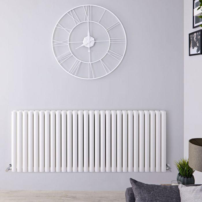 Radiateur Design Horizontal Blanc Vitality 63,5cm x 164,7cm x 7,8cm 2609 Watts