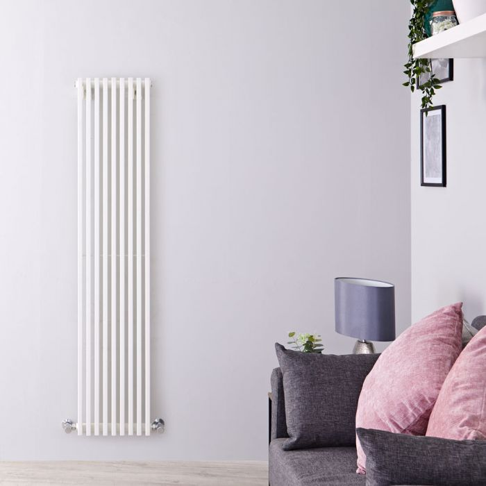 Radiateur Design Vertical Blanc Parallel 160cm x 34,2cm x 8,4cm 1053 Watts