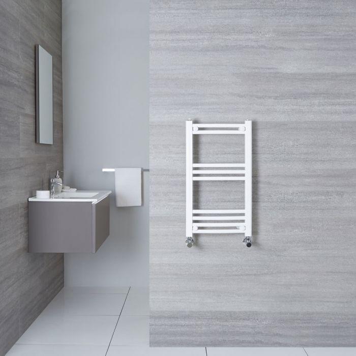 Sèche-Serviettes Incurvé Blanc Etna 70cm x 40cm x 3,8cm 276 Watts