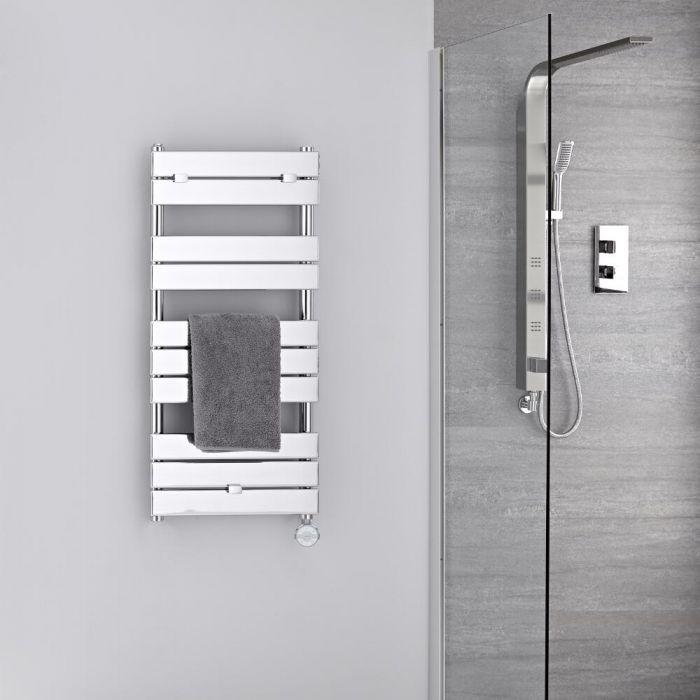 Sèche-serviettes électrique Chromé 100 x 45cm Lustro
