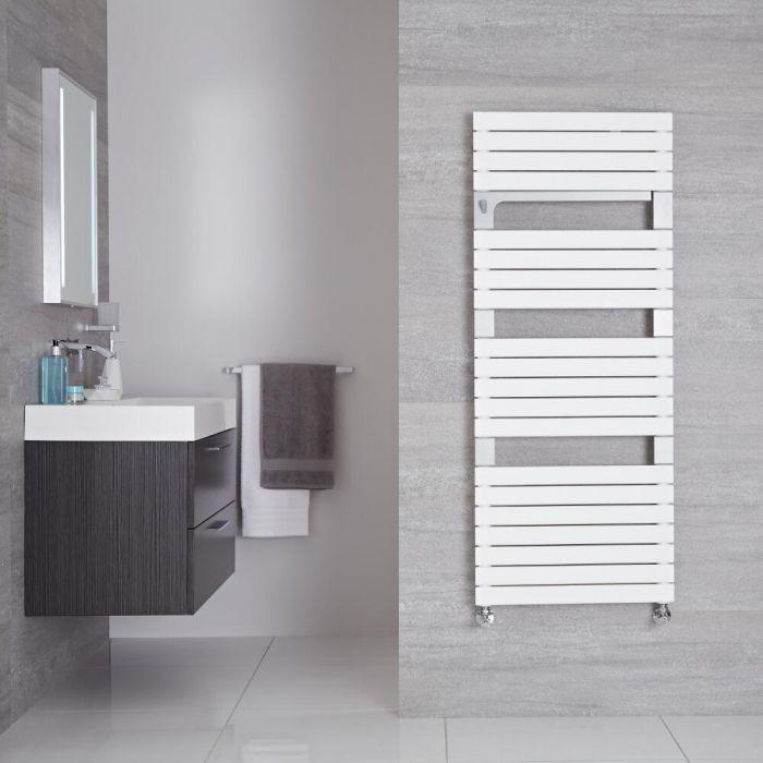 Seina - Sèche-serviettes Design Blanc Minéral - 136cm x 55cm