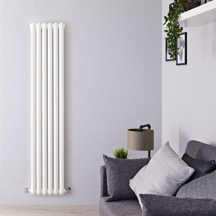 Radiateur Design Vertical Blanc Saffre 180cm x 38,3cm x 8cm 1489 Watts