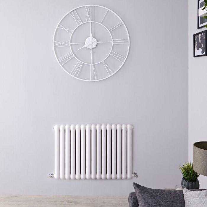 Radiateur design horizontal à colonnes – Blanc – 63,5 cm x 86,3 cm - Saffre